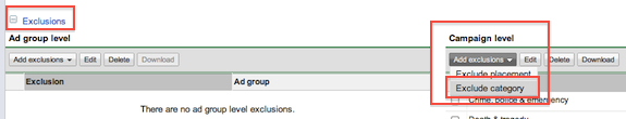 Adwords Site Category Exclusion