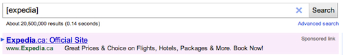 expedia adwords ad text