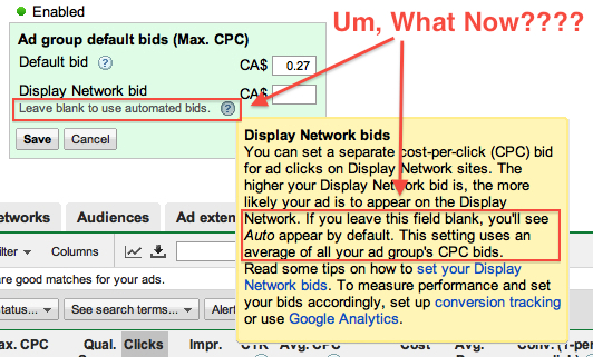 Google Adwords Forced Auto bids