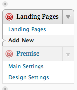 Premise Landing Page Panels in WordPress